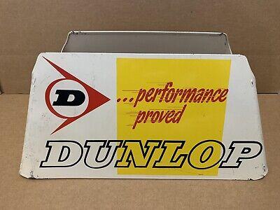 Vintage Dunlop Tire Stand Metal Display Sign Garage Gas Oil Car Truck Decor