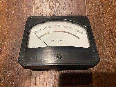 Vintage Dc 0-20v Volt Meter Gauge Model T-533