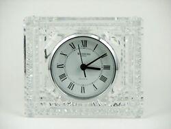 Waterford Crystal Silver Rim Large Desk Clock