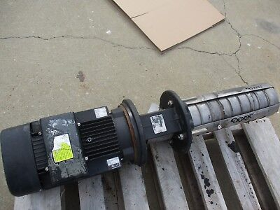 Grundfos Mtp20 Stainless Pump With 7.5hp Motor 43743j 208-230460v Used