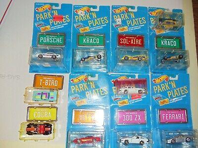 Hot Wheels 1988 Vintage Park 'N Plates 9 Different Models