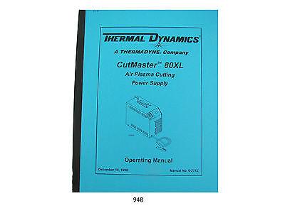 Thermal Dynamics Cutmaster 80xl Plasma Cutter Operating Manual 948