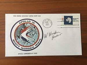Al Worden signed Apollo 15 Cover NASA Astronaut