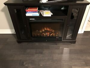 Electric fire place tv stand