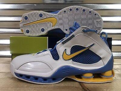 de5428a78ee8 Nike Shox Elite Denver Nuggets  04 Shoes White Gold Blue SZ 11.5 ( 309267-171  )