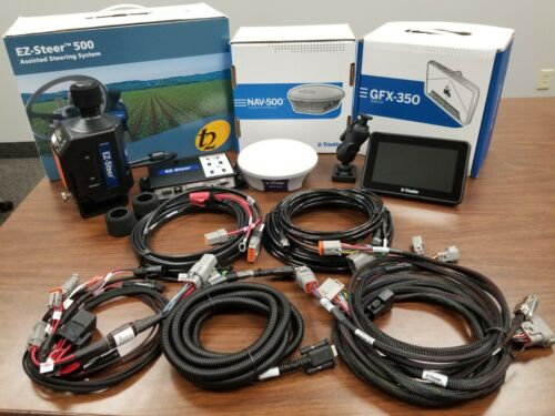 TRIMBLE GFX 350 GPS Display, NAV 500 & EZ Steer Steering w/ Steering Unlock