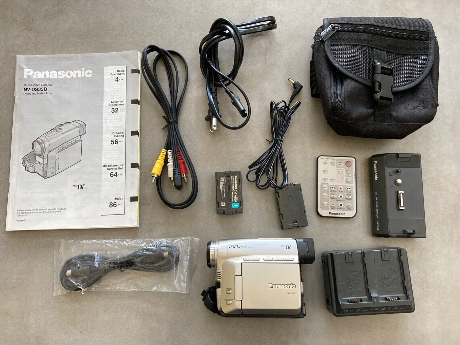 Vintage Panasonic Digital Video Camera NV-DS33B Complete With Case 100x Zoom - $35.00