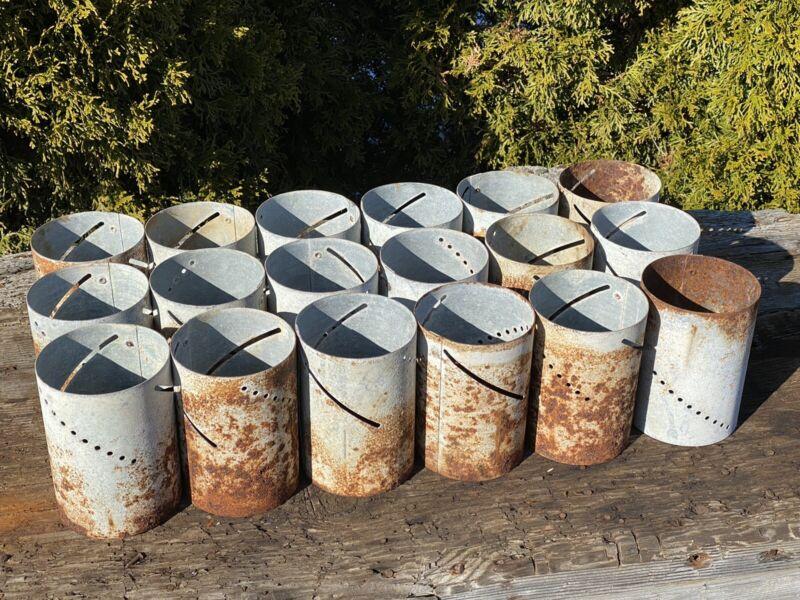 18 Vintage Galvanized Cylinders, Repurpose! Lighting ~ Chicken Feeder Regulator