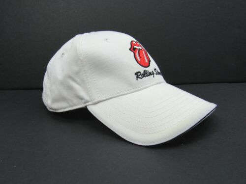 Rolling Stones Tongue Early 2000s White Baseball Cap Hat Unisex Concert Merch