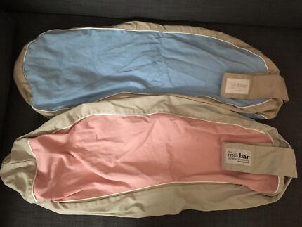 2 x spare covers for Milkbar nursing pillow