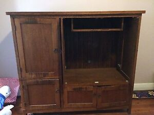 Solid Timber TV/Storage Unit Newcastle Newcastle Area Preview