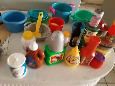 Lot Step2 Fisher Price And Other Pretend Play Kitchen Food Fruits Pots Dishes