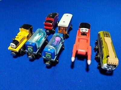 7pc Set Thomas Wooden Trains: THUMPER, DIESEL 10, AQUARIUM CARS, CLARABEL etc