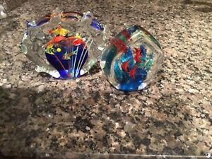 2 Murano Glass Art (made in Italy (NEW)