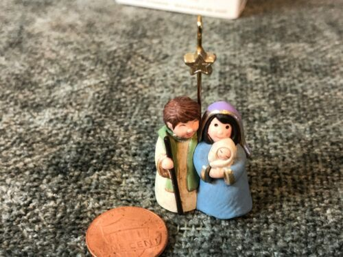 Hallmark Keepsake Ornament All is Calm Holy Family Miniature 2009