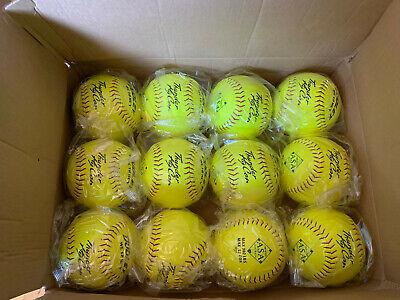 Dozen Dudley ASA Thunder Hycon Composite Slowpitch Softball 4A066Y Yellow 12