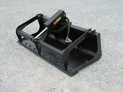 60 Single Cylinder Solid Bottom Bucket Grapple Attachment Fits Skid Steer Qa