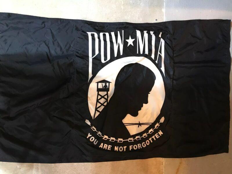 "POW MIA Flag  34"" x 59""  MADE IN USA by Annin Flagmakers NYL-GLO 100% Nylon"