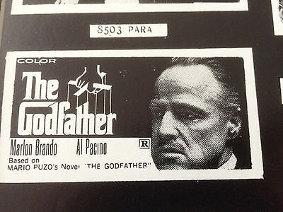 THE GODFATHER-1972-RARE COLLECTIBLE-RESTRIKE FROM ORIGINAL 1972 PRINT PLATE