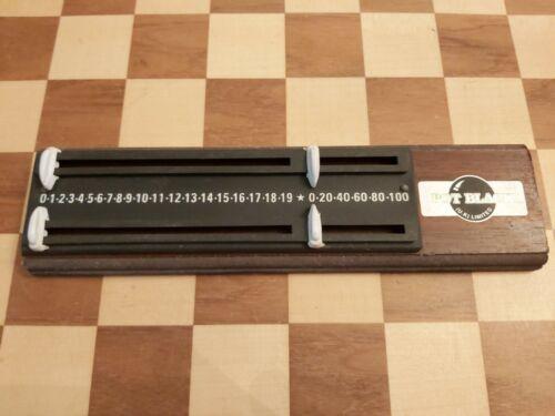 Vintage 1990s Pot Black Snooker Billiards Scoreboard Slider Pegs Wood and Plastic