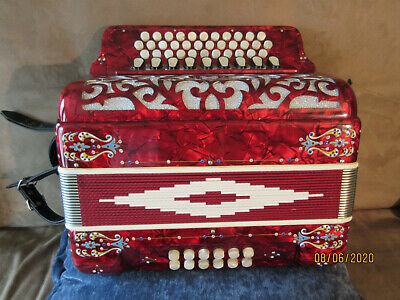 Button Accordion, Excelsior - GCF - with case and straps