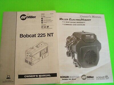 Miller Bobcat 225 Nt Welder Owners Manual Om-405  184 289ae  April 2004