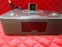 Philips DC291/37 - Docking Station FM Radio Clock Dual Alarms for iPod *WORKING*