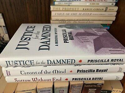 Lot of 3 Priscilla Royal Hardcover Medieval Mystery Books Priscilla Royal