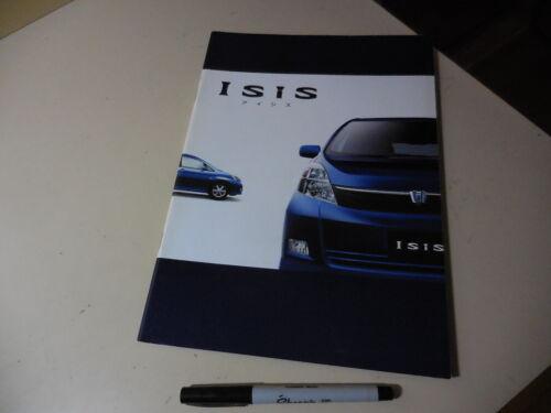 Toyota Isis Japanese Brochure 2004/09 10/15 1AZ-FSE 1ZZ-FE