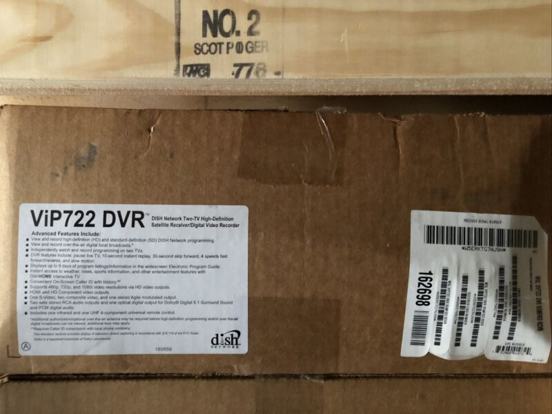 Dish Network VIP 722 HD DVR HDTV High Definition Satellite Receiver 2 Remotes