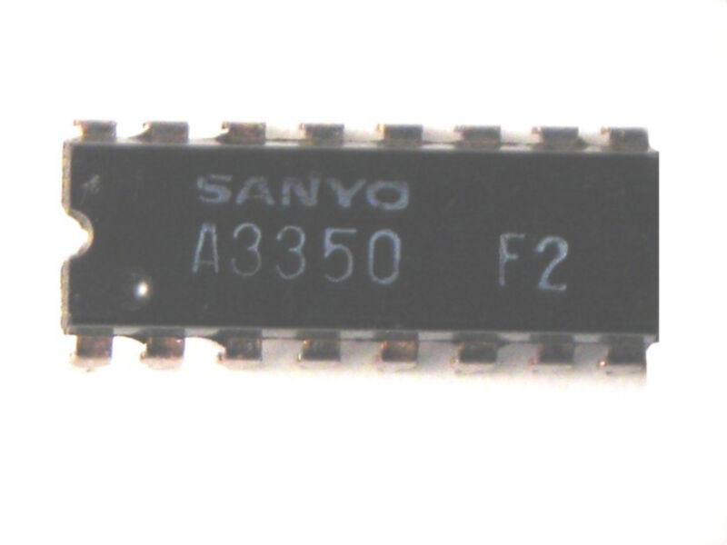 "LA3350 ""Original"" SANYO 16P DIP  IC  2 pcs"