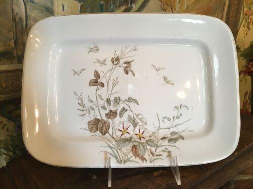 English Alfred Meakin Royal Ironstone China Transferware Platter Antique