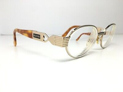 MOSCHINO Gold Heart Frame Oval Eyeglasses MM3004-S ITALY 54-18-135