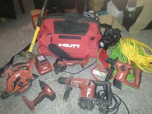 HILTI tool set and misc tools all I'm great condition. CHEAP!