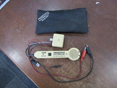 Progressive Electronics 200b Probe Kit Inductive Amplifier With 77m Tone Gen.