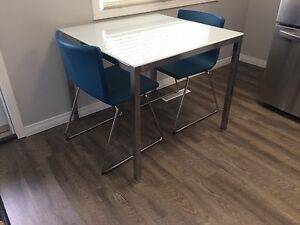 Pristine condition IKEA table and 2 chairs!