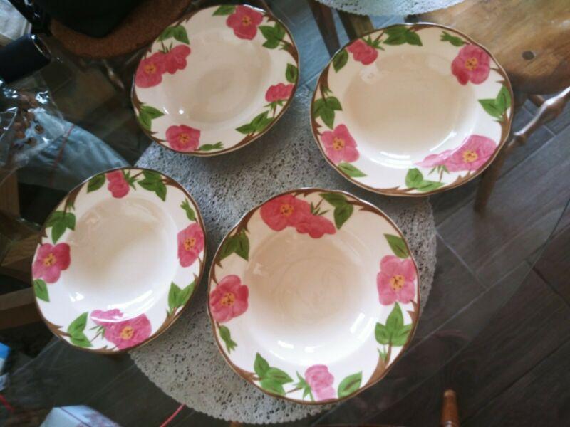 Lot of Four Franciscan Desert Rose 8.7 Inch Rimmed Soup Bowl