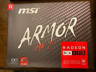 MSI Radeon RX 570 ARMOR MK2 8G OC Graphics Card*used*