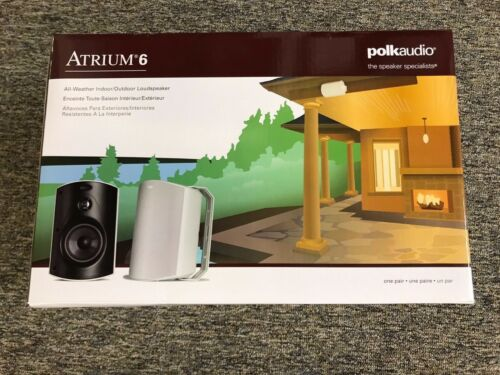 "Polk Audio Atrium6 5-1/4"" Outdoor Speakers (Pair) Black ATRIUM 6 BLACK"