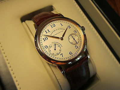 NEW OLD STOCK A. LANGE & SOHNE 1815 UP & DOWN 18K ROSE GOLD  221.032  BOX PAPERS