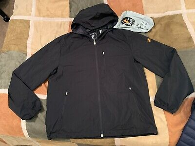 Save The Duck black lightweight water resistant hooded rainy jacket L mens NEW