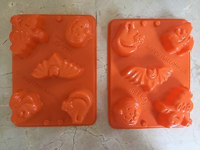 Jello Jiggler Orange Halloween Mold Jello Shots set of 2 - Jello Jiggler Molds Halloween