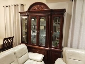 Solid wood Buffet and Hutch like brand new, retail $4500