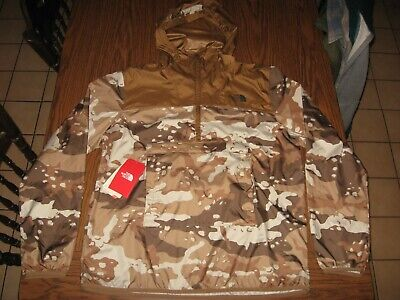 NWTS The North Face Fanorak Windbreaker packable Camouflage Men's Size Large