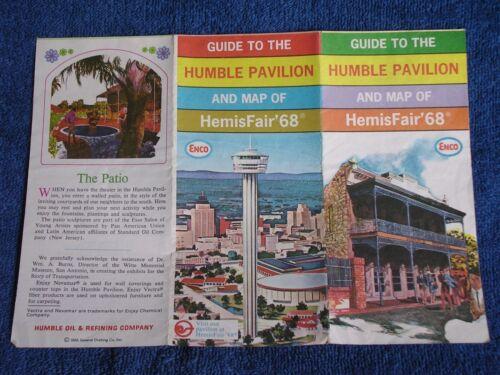 San Antonio TX/Guide to the Humble Pavilion & Map od HemisFair