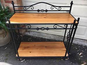 Wrought Iron and Timber sideboard/ Hall Table Kurrajong Hawkesbury Area Preview
