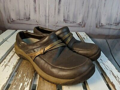 Womens shoes comfort flats slip clogs work merrell bracken 8.5 career brown tan - Merrell Slip-clogs