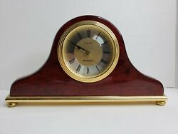 Large Wooden Linden Westminster Chime Mantel Shelf Clock