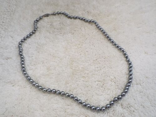 Gray Glass Pearl Necklace (A33)