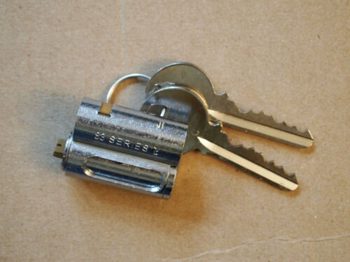 Abus 83 series 2 padlock core, keyed, 6-pin, Schlage keyway